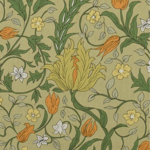 Gordon Smith Wild Tulip Green Curtain Fabric