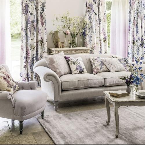 Sanderson Wisteria Falls Amethyst Fabric 226286