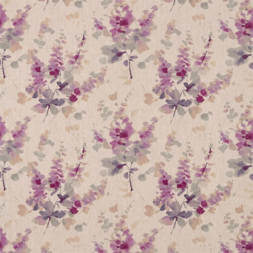 Sanderson Delphiniums Grape Fabric 226289