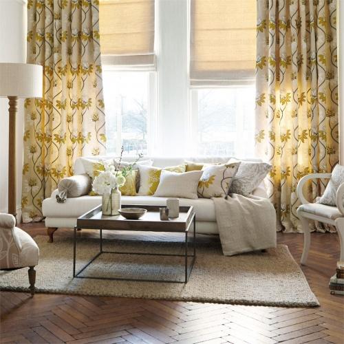 Harlequin Eloise Marigold Curtain Fabric 131545