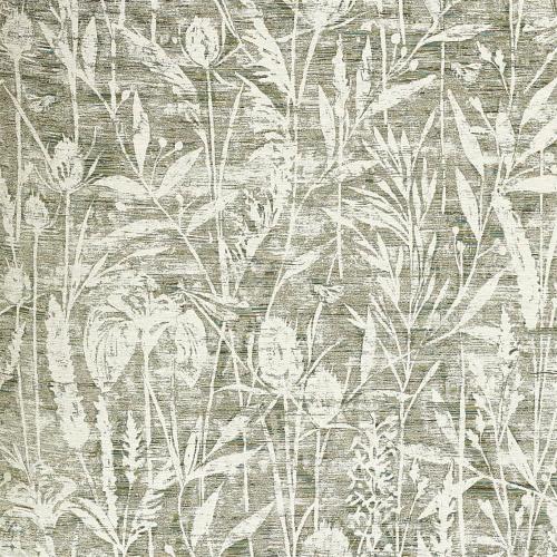 Sanderson Violet Grasses Moss Fabric 237198