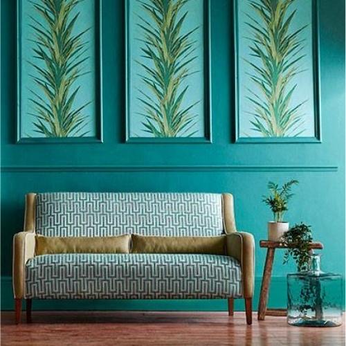 Sanderson Linnean Botanical Green Fabric 236784