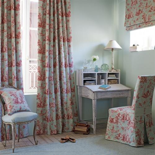 Sanderson Josette Rose/Sage Fabric 223985
