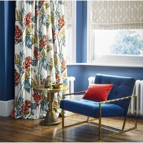 Harlequin Toshiko Paprika / Teal / Olive Curtain Fabric 120791