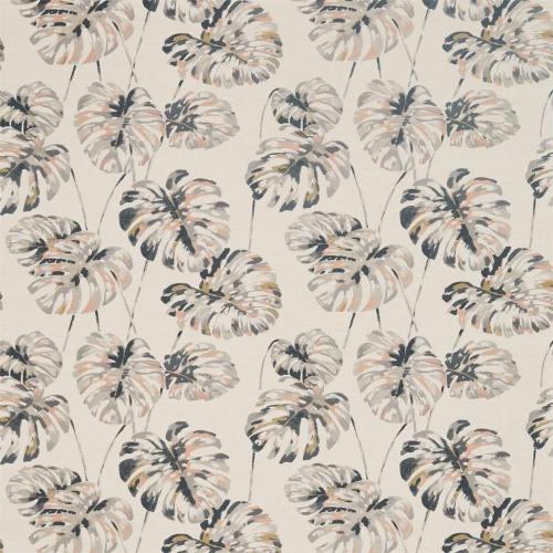 Harlequin Kelapa Charcoal/Blush Curtain Fabric 132648