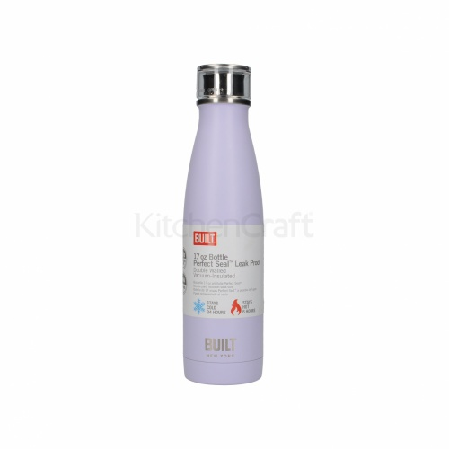 Built 500ml Double Walled Stainless Steel Water Bottle Lavender