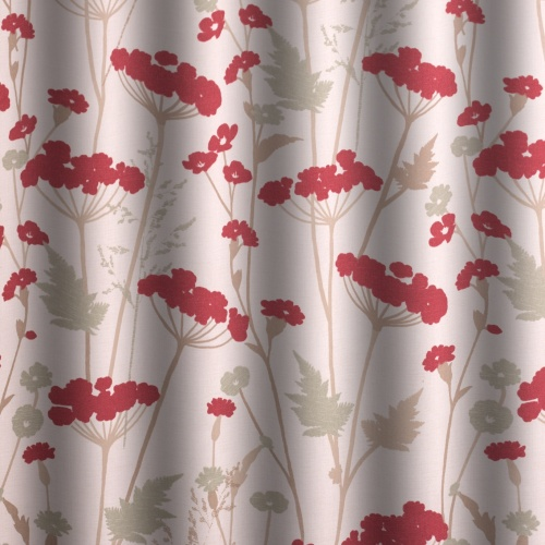 Gordon Smith Parsley Crimson Curtain Fabric
