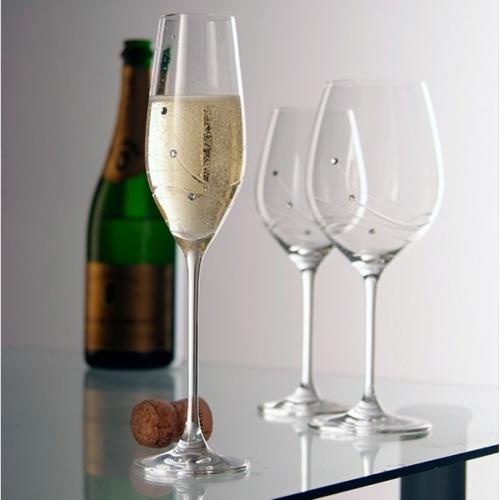 Dartington Glitz Champagne Flute Pair
