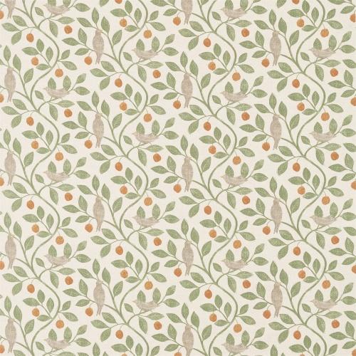 Sanderson Home Damson Tree Brick/Fennel Fabric 226362