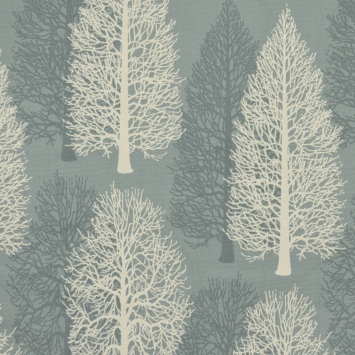Gordon Smith Conifer Duck Egg Curtain Fabric