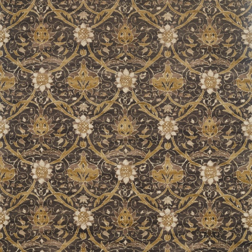 Morris & Co Montreal Charcoal/Mustard Fabric 226419