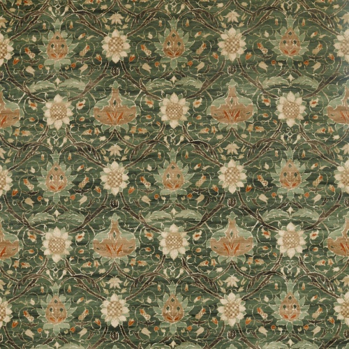 Morris & Co Montreal Velvet Forest/Teal Fabric 226391