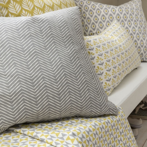 Studio G Orianna Chartreuse/Charcoal Fabric F1376/02