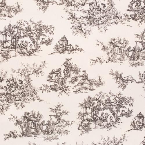Gordon Smith Toile Black Fabric