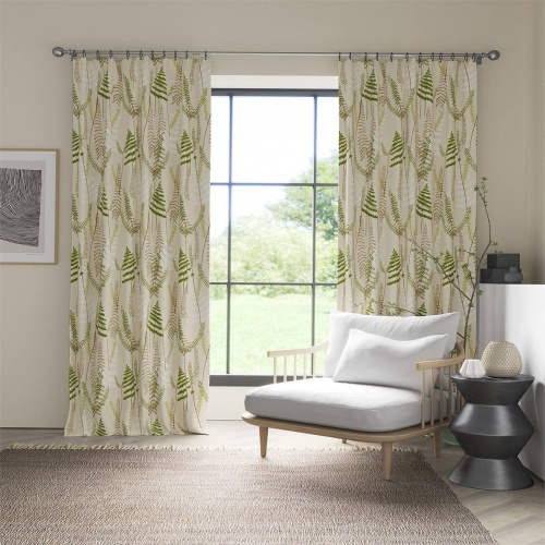 Scion Athyrium Hessian Apple and Pebble Fabric 133529