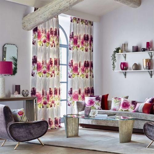 Harlequin Zapara Cerise/Kiwi Curtain Fabric 132644