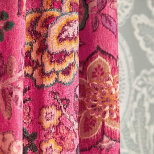Sanderson Indra Flower Emerald Fabric 226640
