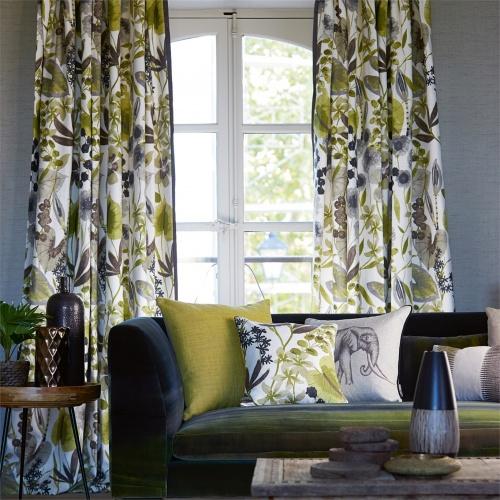 Harlequin Nalina Zest/Cocoa/Stone Curtain Fabric 120332