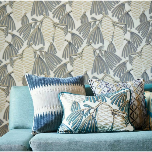 Harlequin Foxley Kingfisher Curtain Fabric 120811