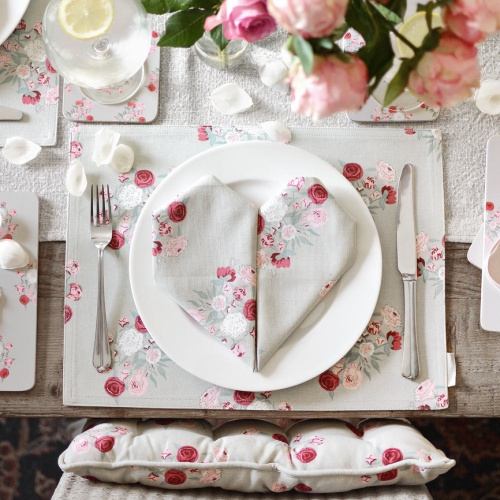 Sophie Allport  Peony  Fabric Placemats