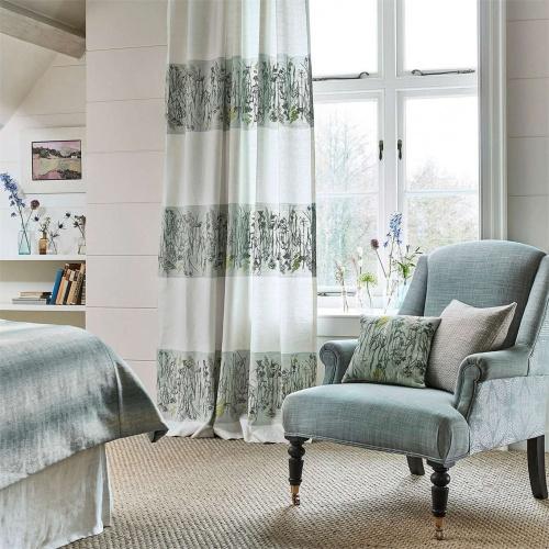 Sanderson Pressed Flower Mist/Linden Curtain Fabric 236556