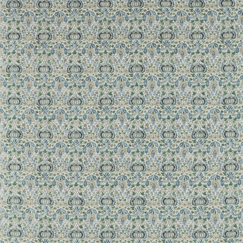 Morris & Co Little Chintz Blue/Fennel Fabric 226406