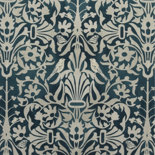 Gordon Smith Natures Retreat Indigo Curtain Fabric