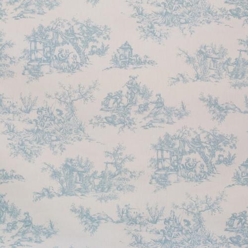 Gordon Smith Toile Wedgewood Fabric
