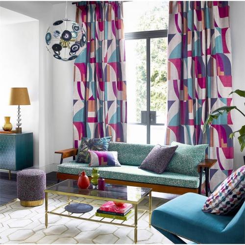 Harlequin Bodega Indigo/Mandarin/Fuchsia Curtain Fabric 132868