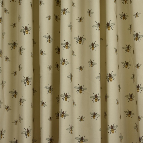 Gordon Smith Bees Beige Curtain Fabric