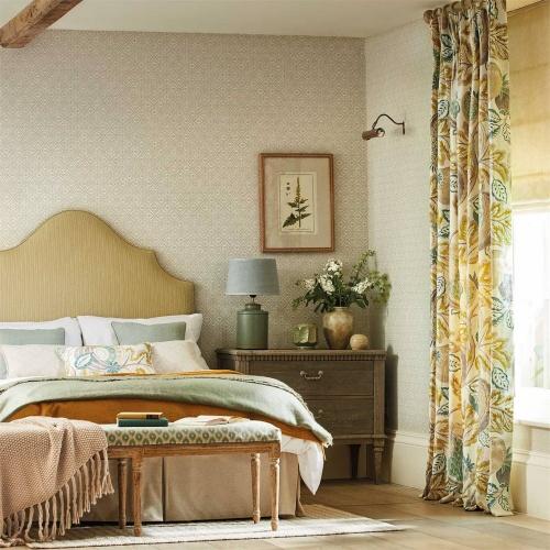 Sanderson Cantaloupe Sumac/Sage Fabric 226637