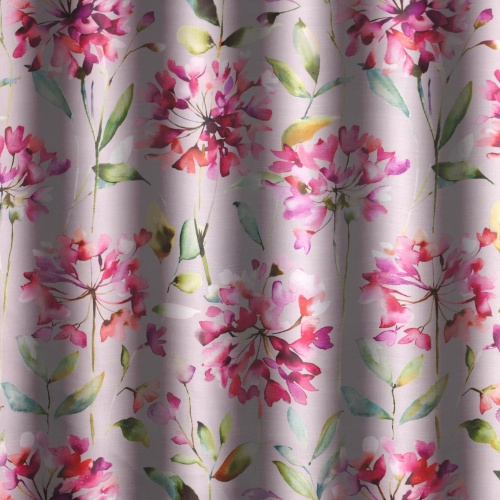 Voyage Clovelly Raspberry Stone Curtain Fabric