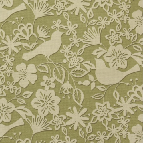 Gordon Smith Shadow Bird Green Curtain Fabric