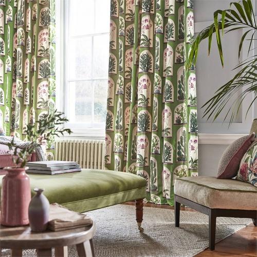 Sanderson Terrariums Botanical Green Fabric 226570