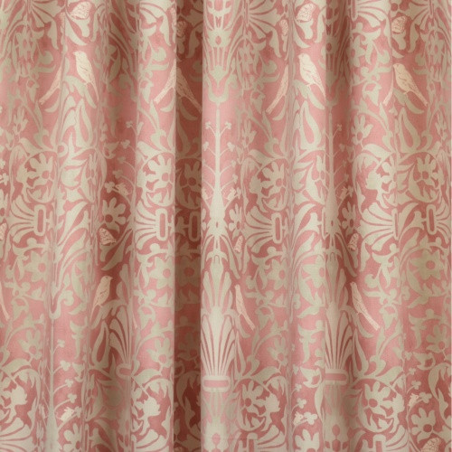 Gordon Smith Natures Retreat Pink Curtain Fabric