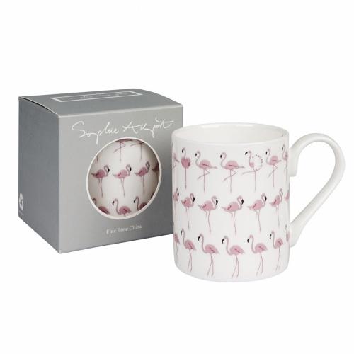 Sophie Allport Flamingos Multi Standard Mug White