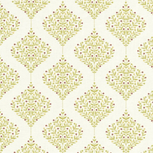 Sanderson Orchard Tree Lime Fabric 237185