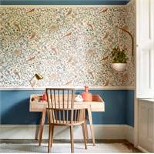 Morris & Co Newill Peppermint Russet Wallpaper 216704