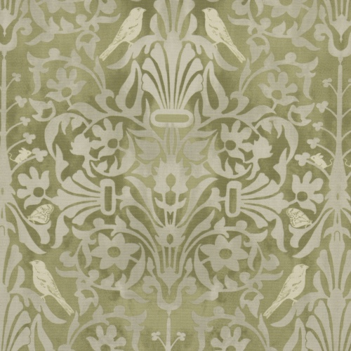 Gordon Smith Natures Retreat Green Curtain Fabric