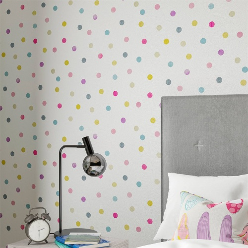 Harlequin Bon Bon Raspberry/Grape/Blossom Wallpaper 112637