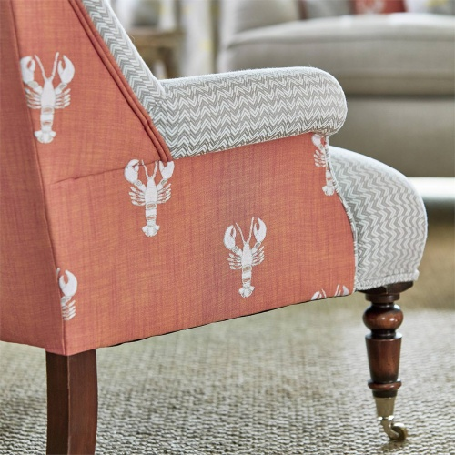 Sanderson Home Cromer Embroidery Coral Fabric 236677