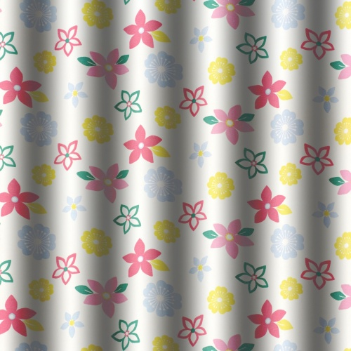 Gordon Smith Funky Flowers Pink Fabric
