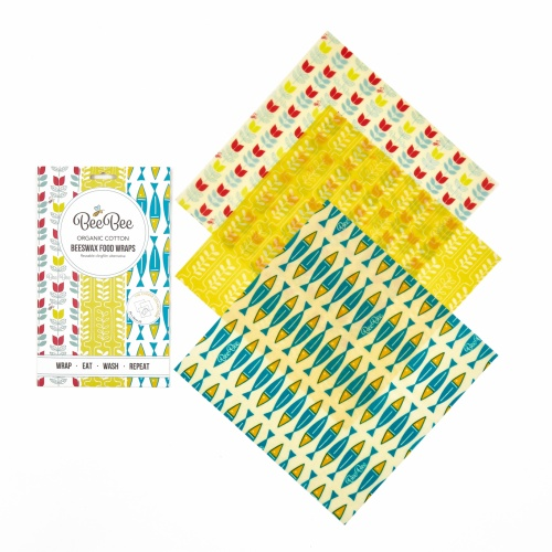 Bee Bee Organic Cotton Beeswax Wraps Cheese Collection