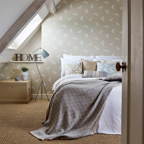 Sanderson Home Paper Doves Linen Wallpaper 216378