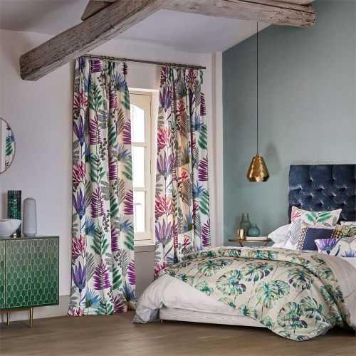 Harlequin Yasuni Cerise/Lagoon Curtain Fabric 120745