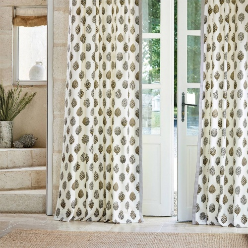 Sanderson Pine Cones Briarwood/Cream Curtain Fabric 226527