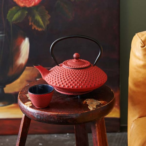 Cast Iron Tea Pot Xilin Red 1.25L