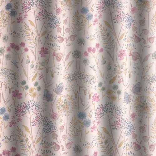 Voyage Flora Cream Spring Curtain Fabric