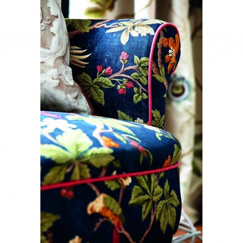 Sanderson Lophura Navy Fabric 226754