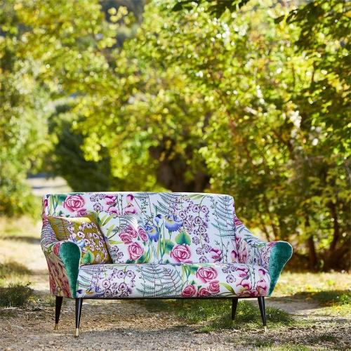 Harlequin Amaryllis Cerise/Lagoon Curtain Fabric 120734